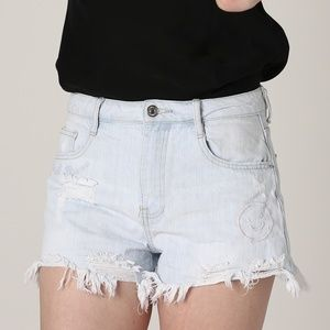Forever 21 Good Times High Rise Distressed Shorts